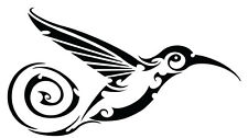 This is a humming bird vinyl cut sticker or decal matte black.