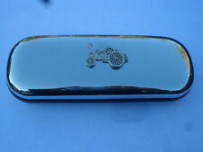 Traction engine showmans brand new chrome glasses case great gift! Christmas