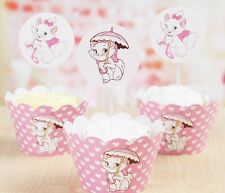 Cupcake Cup Cake Decorating,Toppers Wrappers PARTY DECORATION, Marie Cat