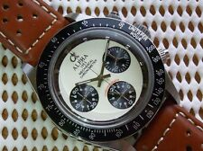 ALPHA Newman Style Hand Winding 30min Chronograph Leather Brown Racer Edition