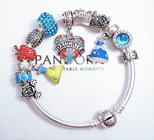 Authentic Pandora Silver Bracelet With Daughter Disney Princess European Charms