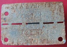 WWII Nazi POW Camp Stalag I B id tag of French soldier P.O.W.- more on ebay.pl