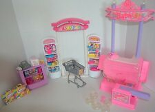 Barbie 1998 Toy Store Set Accessories & Arcade Prize Booth Toys Lot