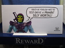 SKELETOR HE-MAN MOTU FIGURE HONDA AUTOMOBILE CAR PROMO DEALER TENT DISPLAY
