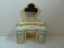 Dolls House Miniature 1:12 Scale Bedroom Furniture Blue & Cream Dressing Table