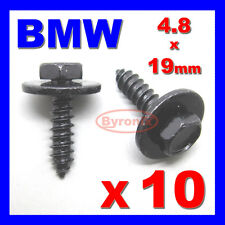 BMW Self Tapotement Vis & Rondelle tapper 4.8 x 19 mm noir 8mm hex head