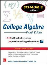Schaum's Outline of College Algebra, 4th Edition Schaum's Outlines