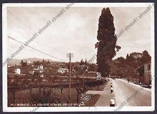 LECCO MERATE 16 STRADA dello SPLUGA - FIAT Cartolina FOTOGRAFICA VIAGGIATA 1953
