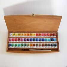 WATERCOLOR PAINT 48 colors Set White Nights Beech Box RUSSIAN Nevskaya palitra