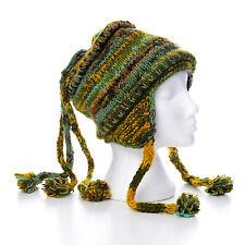 Invierno Cálido Tejido a Mano Suave Sombrero de Lana tres cadena Bobble Unisex 3TH12