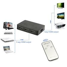 NEU HDMI Switch-HUB Adapter Separator 3D 1080P Für DVD TV Projektor Set-Top-Box