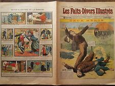 LES FAITS DIVERS ILLUSTRES 1909 N 186  LE SUBLIME COURAGE DE DEUX HEROS, A PARIS