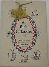 A.A. MILNE the Pooh Calendar FIRST EDITION