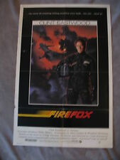 Firefox 1982 Clint Eastwood Craig Thomas Jet USSR One Sheet Movie Poster VG C6