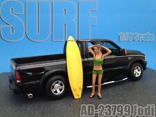SURFER JODI FIGURE FOR 1:18 SCALE DIECAST MODEL CARS BY AMERICAN DIORAMA 23799