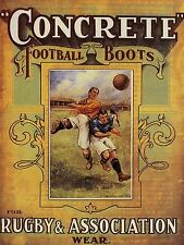 ADVERTISING CONCRETE FOOTBALL BOOTS RETRO SPORT ART POSTER PRINT LV633