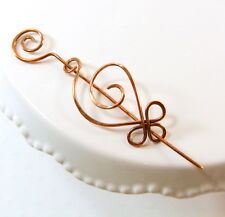 COPPER SPIRAL, CELTIC INSPIRED PIN~ SHAWL~ BROOCH~SCARF~ SWEATER~ PIN