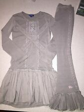 NAARTJIE LACE RUFFLE DRESS & BELL RUFFLE PANTS SET OUTFIT SIZE 8