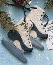 Brick Pond Handworks Handcrafted and Painted Ice Skates Ornament COL-42