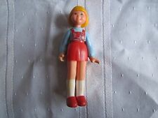 Vintage Fisher Price Dollhouse Doll house daughter 278 Girl 1983-1985 red jumper
