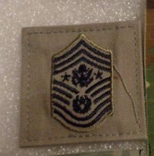USAF PATCH, RANK CHEVRON,CHIEF MASTER SGT OF AF. AIR BATTLE UNIFORM,W/VELCR