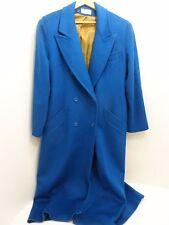 Ashley Scott Women's Blue 100% Wool Long Warm Lined Coat Full Length - Size L?