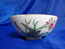 Vtg MAAS BROTHERS Hand Painted in China Decorative Bowl with Birds and Flowers