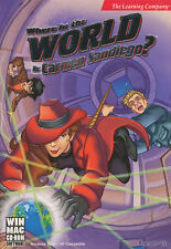 WHERE IN THE WORLD IS CARMEN SANDIEGO - Ages 8+ Geography PC & MAC Game -NEW BOX