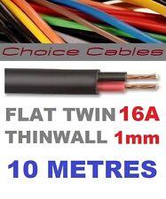 PIATTO TWIN Auto Cavo 2 Core 1.0 mm 16 AMP AUTO FILO 10m Automotive thinwall 1mm
