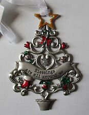 ddd Blessings are all around us ORNAMENT Christmas Wishes Tree Ganz car charm