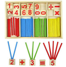 FD3929 Wooden Montessori Mathematics Material Early Learning Counting Kid Toy