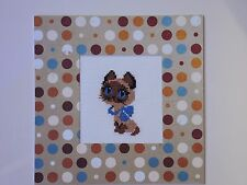 Greeting card Handmade Fancywork Cross stitch Gift Kitty Cat