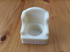 Vintage Fisher Price Little People House Furniture White Arm Chair