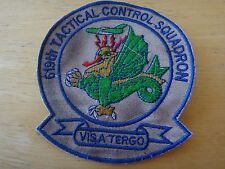 US Air Force Patch 619th TACTICAL CONTROL SQUADRON