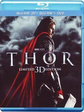 Thor - Limited 3D Edition Dvd & Blu Ray 2D & Blu Ray 3D Eccellente