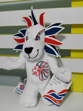 OLYMPIC GAMES MASCOT PRIDE THE LION WITH TAGS! ABOUT 24CM! LONDON 2010 OLYMPICS
