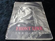 Front Line 1940-41. Civil Defence of Britain. Paperback Published 1942.