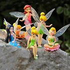 Free shipping 6pcs/set Disney beautiful fairy figure Mini series toys 6--11cm