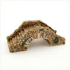 "3.75"" Cobblestone Bridge Statue Miniature Fairy Garden Terrarium Dollhouse"