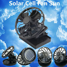 best energy saving Clip-on Solar Cell Fan Sun Power energy Panel Cooling Qw