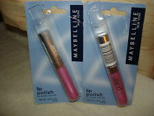 MAYBELLINE LIP POLISH LIPSTICK: SHADE #180 PURPLE PASSION: LOT OF 2