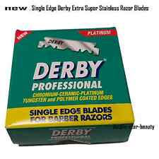 100 Blades Single Edge Derby Extra Super Stainless Razor Blades -new
