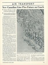 1953 Aviation Article Pacific Western Airlines History PWA Canada Canadian