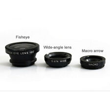 3 In 1 Fish Eye + 0.67X Wide Angle + Macro Camera Lens Kit For Cell For iPhone