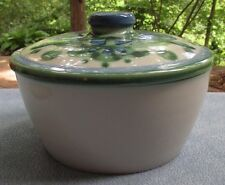 Mary M.A. Hadley Bouquet Hand Painted Covered Deep Baking Dish or Tureen