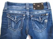 Women's Miss Me JP4009SK-5 SKINNY Jeans Medium Wash size 25 x 32 *AS-IS*