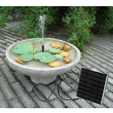 New Solar Power Submersible Water Pump Fountain Pool Pond Panel Kit Watering