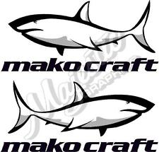 MAKO CRAFT - 420mm x 190mm X 2 - BOAT DECALS