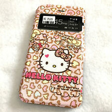 iPhone 6+ / 6S+ PLUS - Pink HELLO KITTY Leather Card ID Wallet Pouch Case Cover