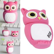 Gift Pen drive cartoon Pink Owl USB 2.0 Memory Flash Stick Storage 8GB U Disk OE